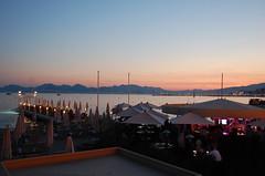 Hotel Martinez (JGlo77) Tags: travel sunset france beach night cannes scenic destination romantic serene luxury frenchriviera sunlounge hotelmartinez hotelmartinezcannes