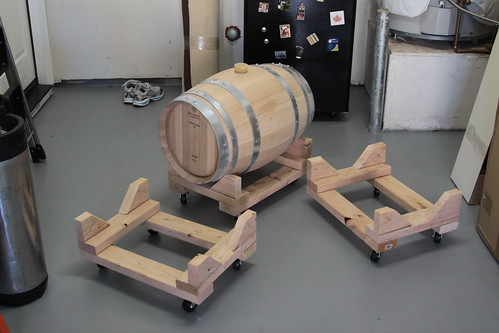 hand made wine barrel racks