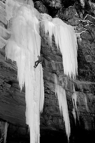Ice Climbing In Durango by Silvertontom.