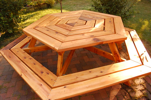 free hexagon picnic table designs