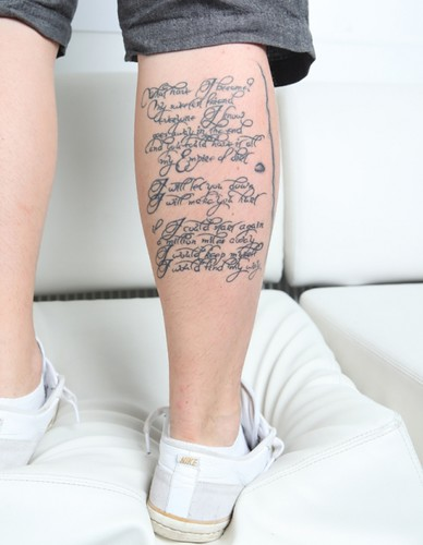 They are lyrics from the Nine Inch Nails song cover for Johnny Cash's song