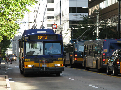 Seattle Trolley Bus, by Oran