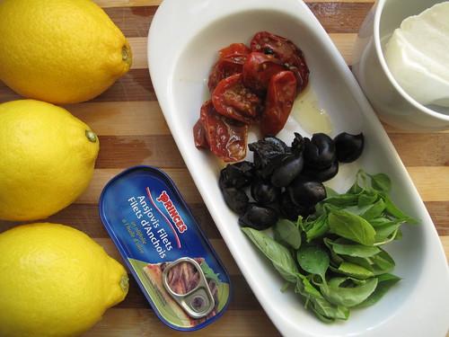 Ingredients for my baked Amalfi lemons