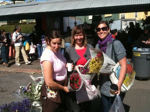 jen, shash and me at market