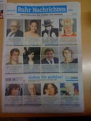"""Ruhr Nachrichten (25.09.2009): Wahlaufruf """"Gehen Sie wählen!"""""""