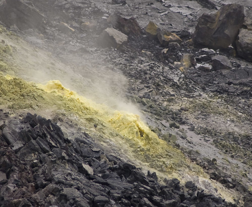 A sulphur vent in the Halema'uma'u
