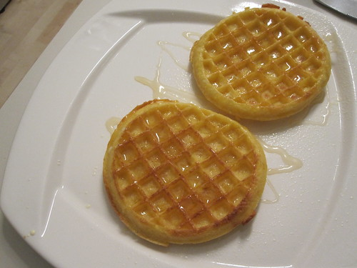 Waffles with honey at home