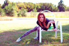 don't.upset.the.rhythm. (im_on_tambourine) Tags: yard pose chair lawn tights redhead lawnchair houndstooth hairwrap fuckyeahhairwrap