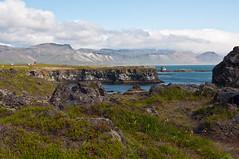 Coast of Arnarstapi (skoeber) Tags: ocean sea vacation holiday water landscape island coast iceland nikon meer wasser urlaub journey landschaft basalt reise kste arnarstapi snfellsnes snaefellsnes d90 nikond90