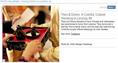 Real Weddings Feature screenshot of traditional tea ceremony tray, click to enlarge