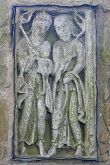 Two figures, Anglo Saxon carving - Breedon-on-the-Hill
