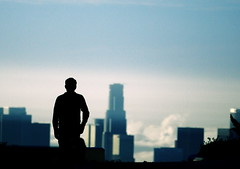 City of Angels (Emmanuel_D.Photography) Tags: california park blue silhouette canon person losangeles cool candid awesome front explore observatory 200 page griffith 70 fp frontpage 70200 f4 emmanuel astig f4l canonl 50d dasalla emmanueldasalla