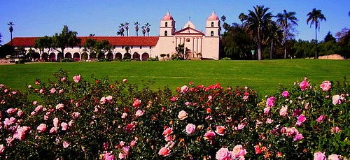 Santa Barbara Mission Rose Garden Lunchtime