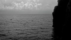 Black sea (Natalia Romay Photography) Tags: trip travel sea sky bw españa water clouds canon landscape mar spain agua paisaje bn alicante viajes cielo nubes mediterráneo alacant benitachell