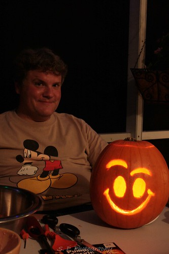 Matt and pumpkin