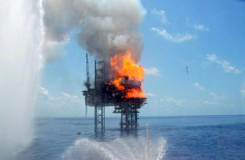 Montara Oil Platform Fire - November 1, 2009