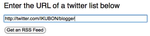 Twitter Lists 2 RSS