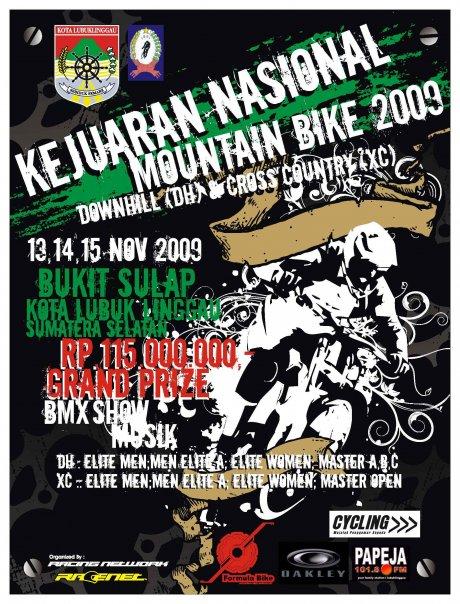 Kejurnas Downhill 2009 Bukit sulap Lubuk Linggau Sumsel - Image FB Dhoni Bima Setiawans