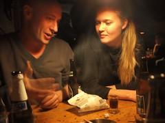 Neillie and Eva (Paul Bennun) Tags: drunk copenhagen fisk guldrejn