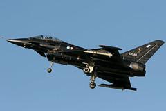 DA2 Eurofighter Warton (PhoenixFlyer2008) Tags: black aircraft military jets lancashire prototype eurofighter cocks fighting bae typhoon testbed da2 warton 43squadron specialliveries zh588