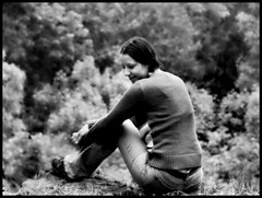 076/365 (Zuzana Kubatova) Tags: trees blackandwhite bw woman home girl monochrome grass smiling project happy blackwhite sitting view bokeh memories memory 365 cb 18 relaxed projekt happines project365 365days 365project cernobily protebezdendo