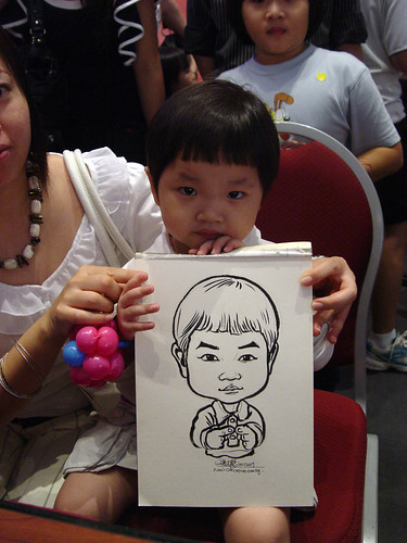 Caricature live sketching for Marina Square X'mas Tenants Gathering 2009 - 12