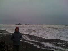 E at Ruby Beach