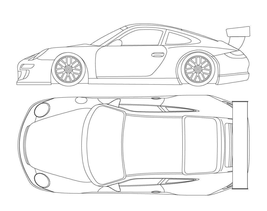 Race Car Drawing Templates Car Drawing Templates