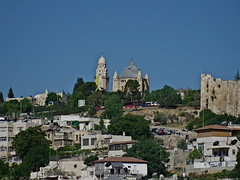 Mount Zion, crowned by the Dormition Abbey (© Deror Avi)