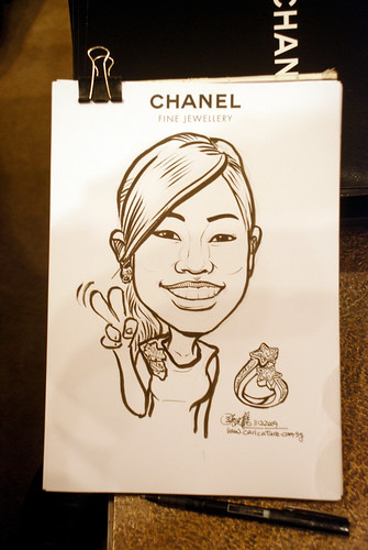 Caricature live sketching for Chanel Day 2 - 7