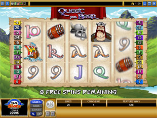 free Quest for Beer free spins