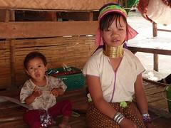 Padaung - Karen's Long Neck Tribe (KatanaZ) Tags: people thailand lumix karen longneck chiangmai motherhood ethnic padaung indigenoustribe tz7 baantongluang