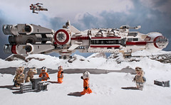 Evacuation (Blockaderunner) Tags: rebel star back ship lego space south echo empire xwing wars corvette base strikes slope hoth cr90 10198 blockaderunner tantive