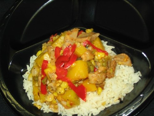 Stir-Fry Fajita Chicken, Squash, and Corn.  Monument Valley High School is a finalist in the Recipes for Healthy Kids competition.