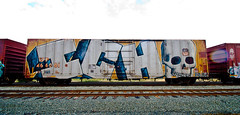Ich (TheHarshTruthOfTheCameraEye) Tags: california car train graffiti yme whole northern ich freight ichabod benching