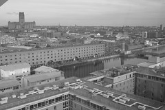 Liverpool (Emma Lou2009) Tags: uk liverpool blackwhite northwest fromabove thedocks albertdock merseyside viewfromthewheel
