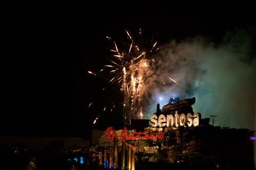 fireworks @ sentosa resort