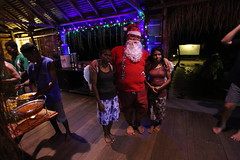 Tourist Christmas in West Papua