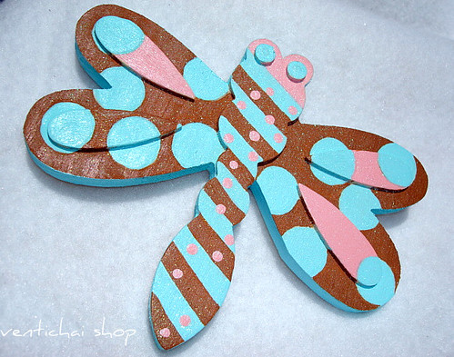Dragonfly and Dinosaur Hand Painted Wall Hangings For Boy or Girl Room Decor