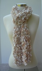 Almond 1 (gladdybostop) Tags: yarn scarf loom knit handmade almond soft knitted neck warmer winter scarve hand crafted fashion outerwear wavy