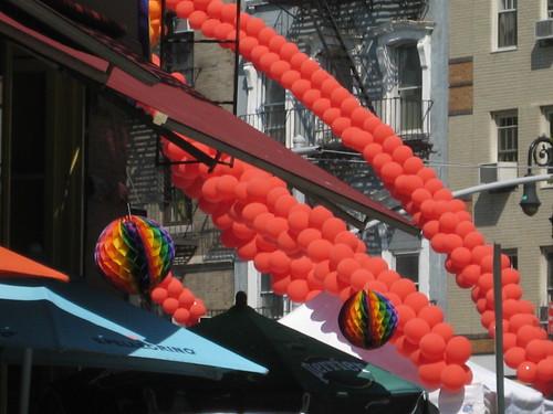 Gay Pride Balloons NYC 2009