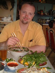 Ross Dunn having amazing Thai food in Honolulu's China town.