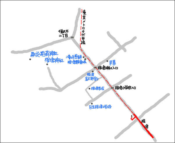 根津map