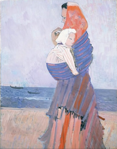 figure by the sea