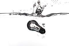 Genesis Of A More Brilliant Idea (ICT_photo) Tags: light ontario water glass lightbulb bulb aquarium guelph highkey splash ianthomas ictphoto
