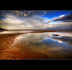 """"""" EVER LOOKED AT AN IMAGE ON YOUR LCD SCREEN AND SKIPPED A LITTLE DANCE.............. ;-) """" (Wiffsmiff23) Tags: sky beach pool beauty southwales clouds sunrise reflections disco coast dance sand rocks colours peace pebbles calm jig ripples submerged wellies tranquil manfrotto hoya rockpool southerndown davidsmith dunraven nd8 serne dunravenbay wiffsmiff23 heritagecoastlinesouthwales magicunicornverybest"""
