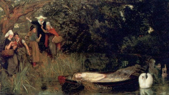 The Lady of Shalott Arthur Hughes