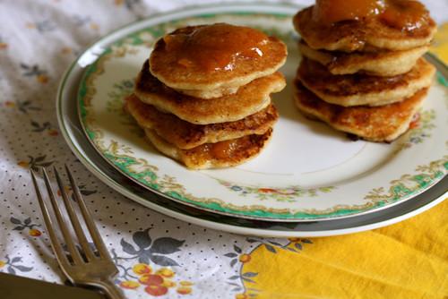 Vegan Jam Swirled Pancakes