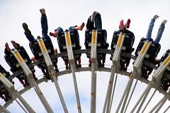 Legs Feet and Shoes (Heaven`s Gate (John)) Tags: fun ride upsidedown fairground fear swing pendulum maelstrom draytonmanorpark 10faves johndalkin heavensgatejohn peopleflower legsfeetandshoes