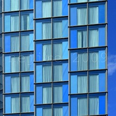 windows with a curtain ... (_nejire_) Tags: blue windows england sky building london architecture curtain southbank explore waterloo 70 54 44 139 299 189 f35 carlzeiss 425pm supershot 10faves 25faves canoneos400d fave10 planart50mm fave25 carlzeissplanart1450ze 11317393g750am no374